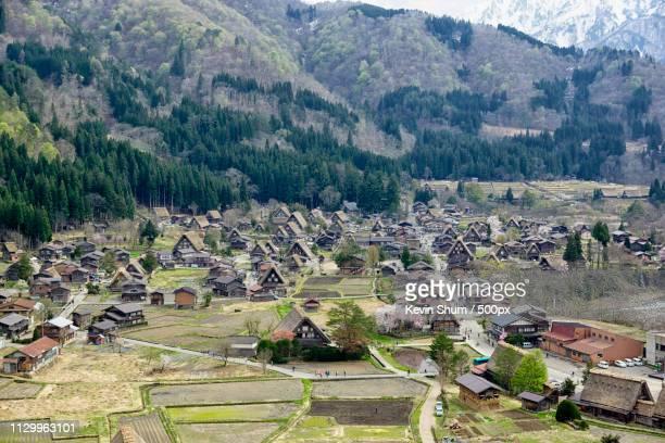 historic villages of shirakawa-go and gokayama - kevin shum foto e immagini stock
