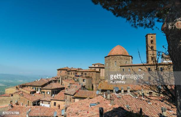 historic volterra - volterra stock photos and pictures