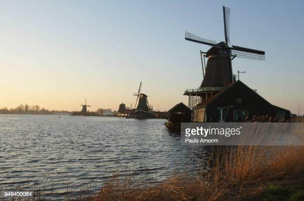 Historic windimill of the Zaans Schans in Netherlands