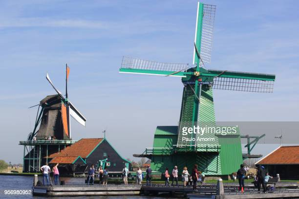 Historic windmill of the Zaans Schans in Netherlands