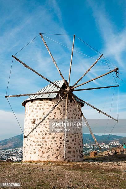 Historic windmill on hill
