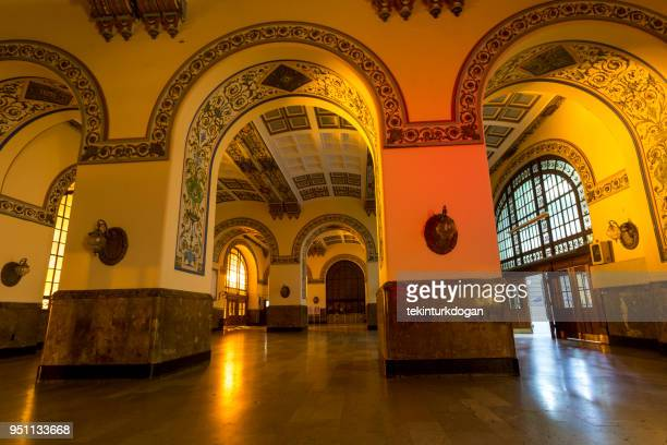 historical abandoned old ottoman haydarpasa train station at kadikoy istanbul turkey - haydarpasa stock photos and pictures