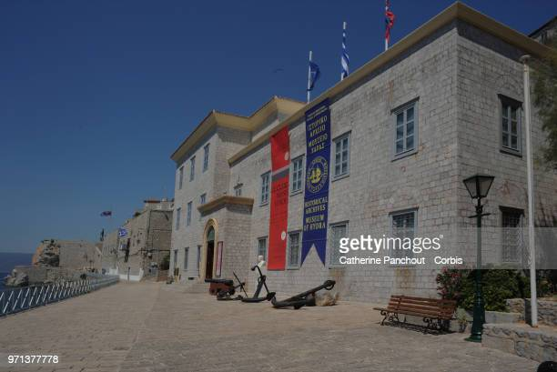 Historical Archives Museum on the port of Hydra on August 02/2016.