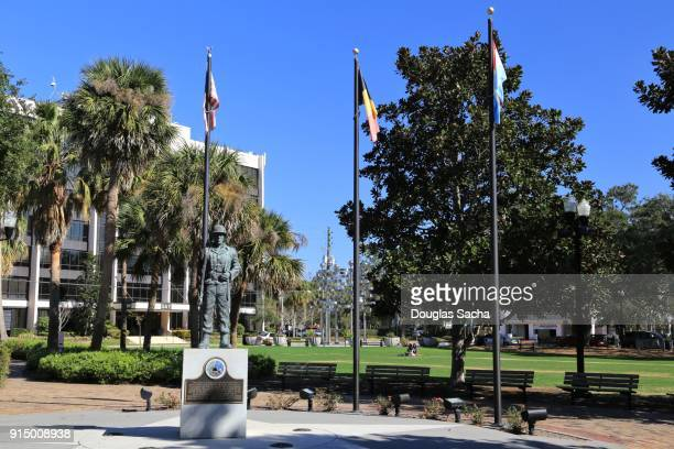 Historical Battle of the Bulge Memorial, Lake Eola Park, Orlando, Florida, USA