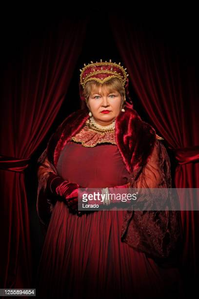 historical blonde queen character on the throne - royalty stock pictures, royalty-free photos & images