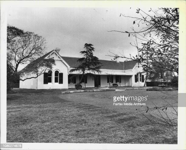 Historical Boori built in Parramatta circa 1865 is to be auctionedA view looking at the front of the hose***** approve of Charles William Lloyd the...