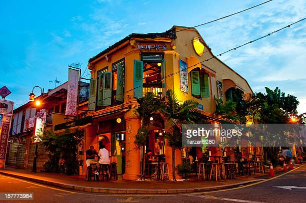 historical building in the china town, malacca, malaysia - melaka state stock pictures, royalty-free photos & images