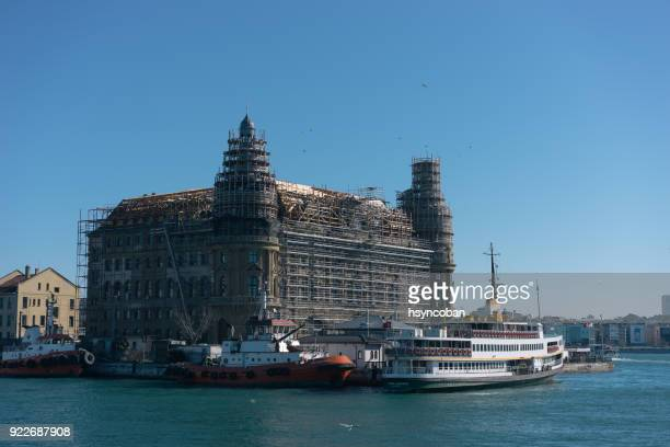 historical building of haydarpasa railway station, istanbul, turkey - haydarpasa stock photos and pictures