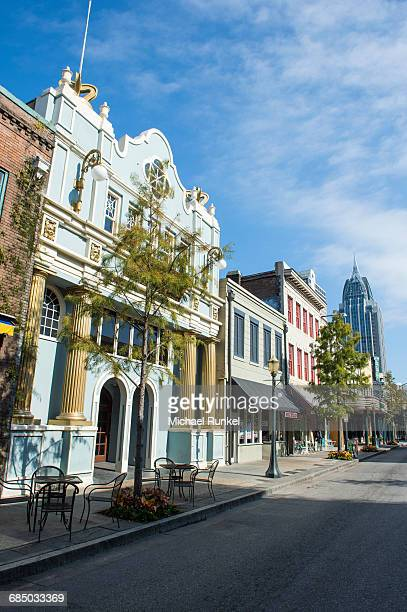 Historical buildings in downtown Mobile, Alabama, USA