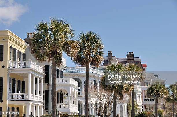 historical buildings in south carolina - antebellum stock photos and pictures