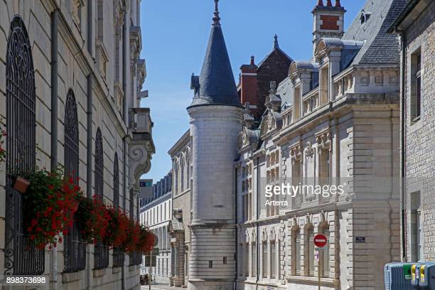 Historical buildings in the old city of Besancon, Doubs, Bourgogne-Franche-Comte, France.