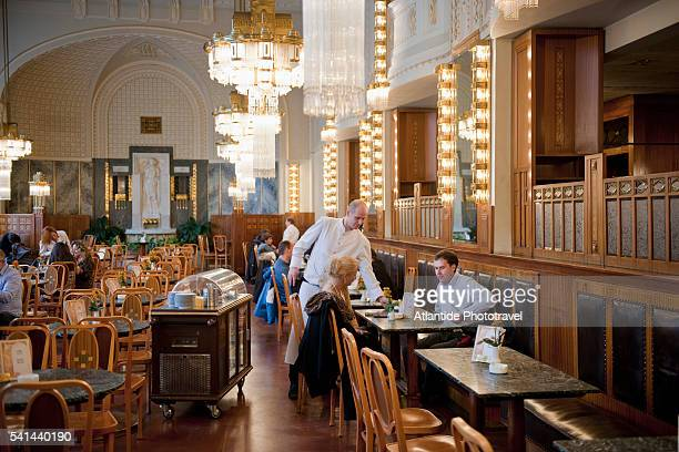 Historical cafe at Obecni Dum, Prague, Czech Republic