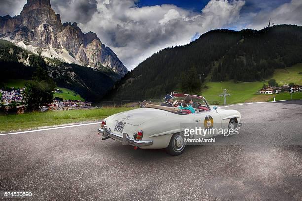 Historische Auto auf Dolomiti Gold cup
