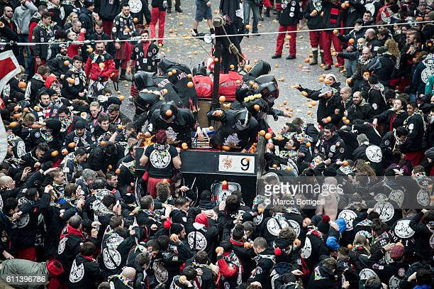 Historical carnival of Ivrea, Torino province, Piedmont, Italy