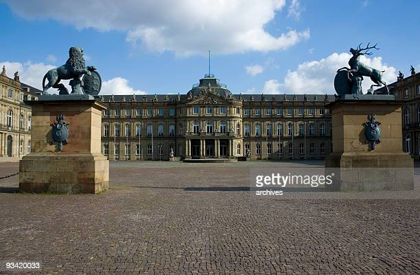historical castle in stuttgart, germany - stuttgart stock pictures, royalty-free photos & images