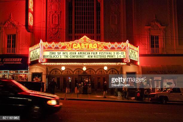 historical Castro Theatre, iconic symbol of gay San Francisco