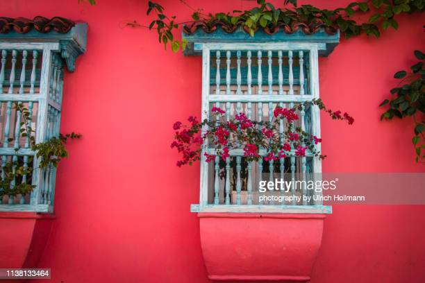 historical center of cartagena de indias, colombia - historic district stock pictures, royalty-free photos & images