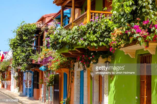 historical center of cartagena de indias, colombia - colombia stock pictures, royalty-free photos & images