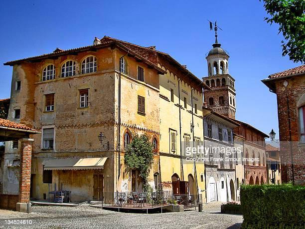 historical center - saluzzo stock photos and pictures