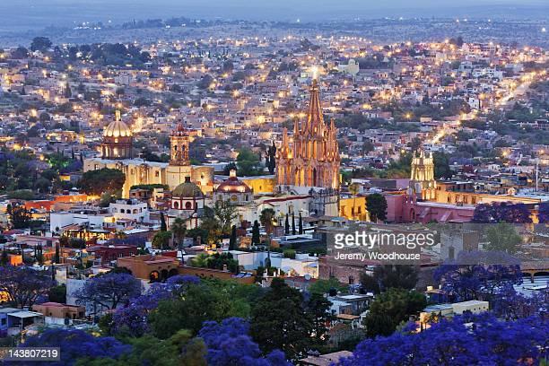 Historical centre of San Miguel de Allende at dusk