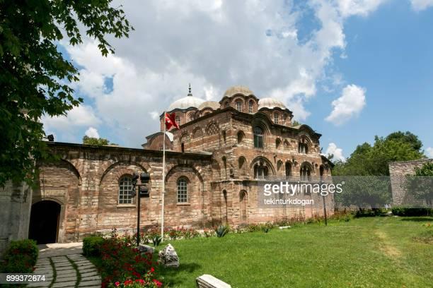 historical chora church  medieval byzantine greek orthodox church preserved as the chora kariye museum in the edirnekapi fatih eyup istanbul turkey - kariye museum stock pictures, royalty-free photos & images
