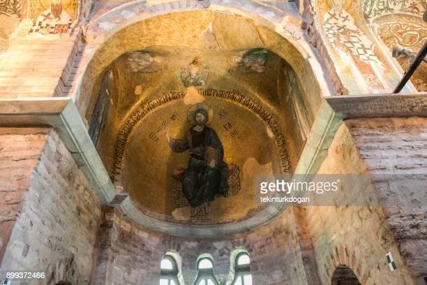 historical chora church paintings medieval byzantine greek orthodox church preserved as the chora kariye museum in the edirnekapi fatih eyup istanbul turkey - kariye museum stock pictures, royalty-free photos & images