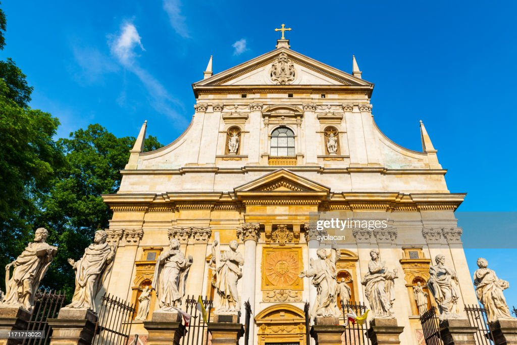 Historical church of Saints Peter and Paul in Krakow : Stock Photo
