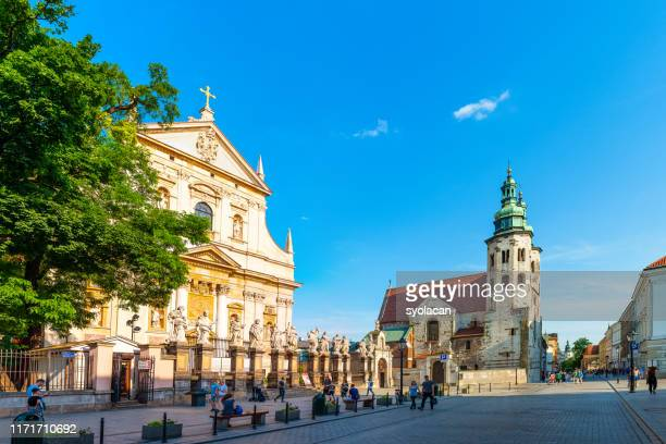 historical churches on grodzka street - syolacan stock pictures, royalty-free photos & images