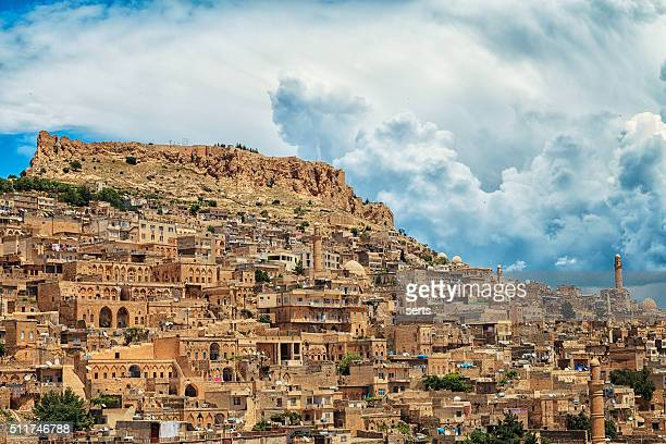 historical city - mardin - ancient civilization stock photos and pictures