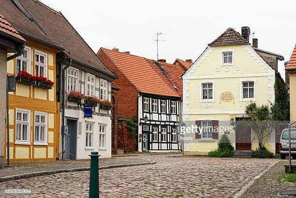 historical cityscape of Havelberg with half-timbered houses