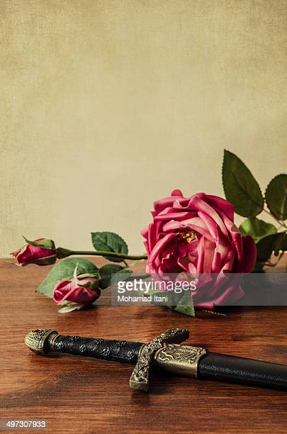 Historical dagger with roses
