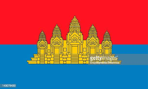 Historical Flag Of Cambodia A Country In Southeast Asia From 1979 To 1992