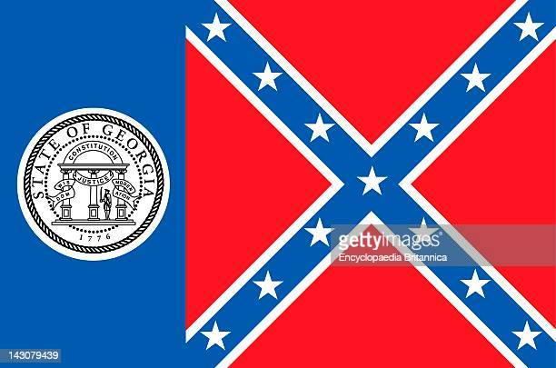 Historical Flag Of Georgia A State In The Southern United States Of America From July 1 To January 31 2001