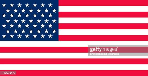 Historical Flag Of The United States Of America The 49Star US Flag Authorized When Alaska Became A State Was The Flag For Only One Year July 4 To...