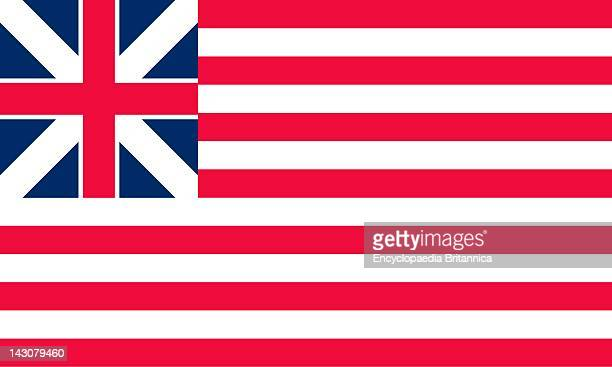 Historical Flag Of The United States Of America The Grand Union Flag The First National Flag Of The United States Was First Flown January 1 1776