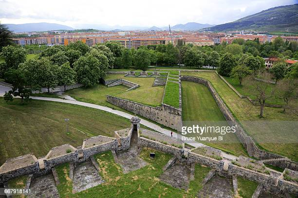 Historical fortification wall of Pamplona