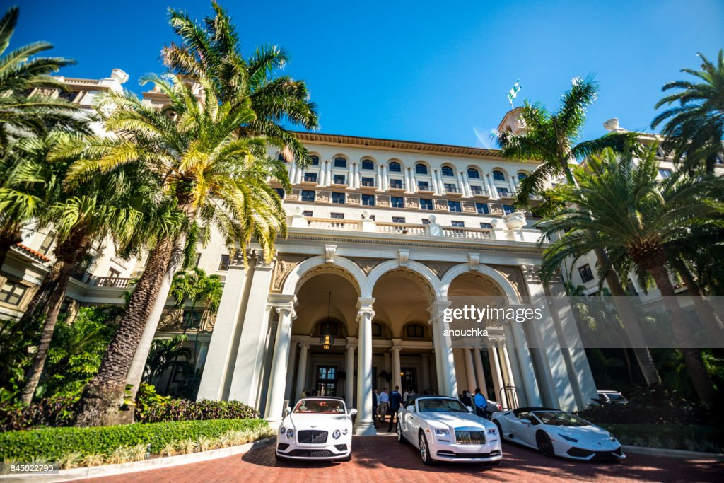 Historical Hotel The Breakers, luxury resort in Palm Beach, Florida, USA : Stock Photo