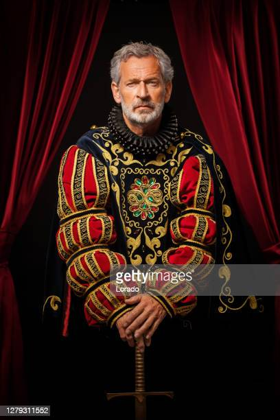 historical king in studio shoot - royalty stock pictures, royalty-free photos & images