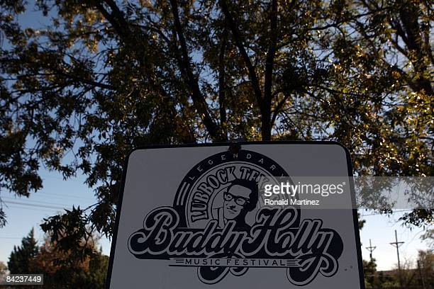 A historical marker for musician Buddy Holly at the City of Lubbock Cemetery on November 8 2008 in Lubbock Texas Februray 3 2009 will be the 50th...