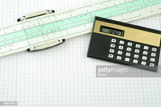 Historische Mathematik Ausstattung mit slideruler