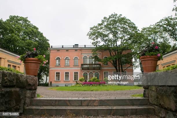 歴史の古い建物を展示センターには、フィンランドのヘルシンキのダウンタウン