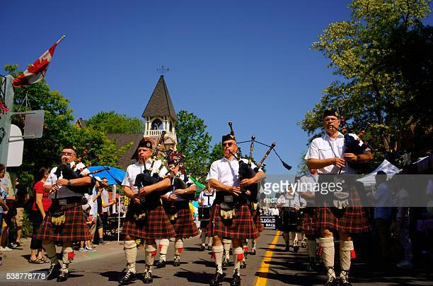 historical parade in toronto, canada - traditional musician stock photos and pictures