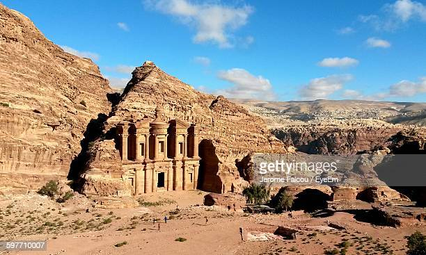 Historical Petra In Desert Against Sky