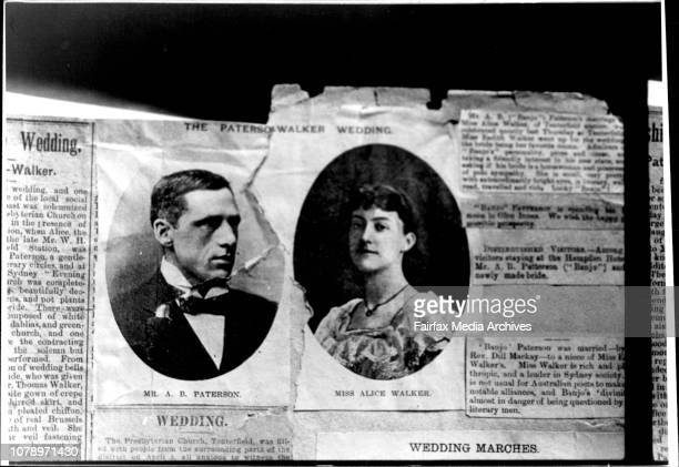 Historical photos of the Legendary Poet Banjo Paterson The photos which belong to his granddaughters Philippa Harvie and Rosamund Campbell include...