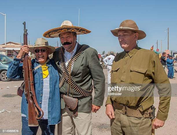 recreación histórica de pancho villa invasión de nuevo méxico - pancho villa fotografías e imágenes de stock