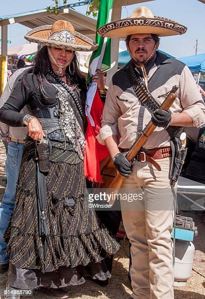 recreación histórica de pancho villa raid de nuevo méxico - pancho villa fotografías e imágenes de stock