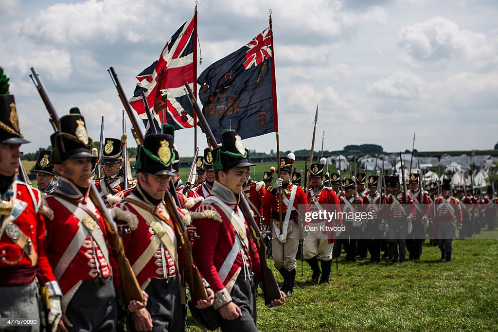 Reenactors Prepare To Commemorate The 200th Anniversary Of The Battle Of Waterloo : News Photo