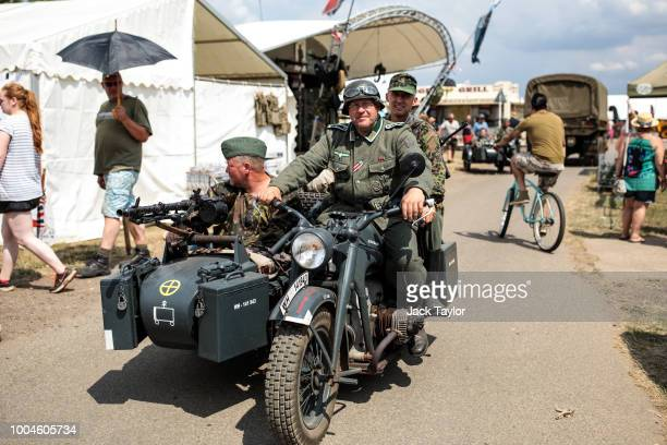 Historical reenactors take part in the annual War and Peace Revival show at Hop Farm Country Park on July 24 2018 in Maidstone England The world's...
