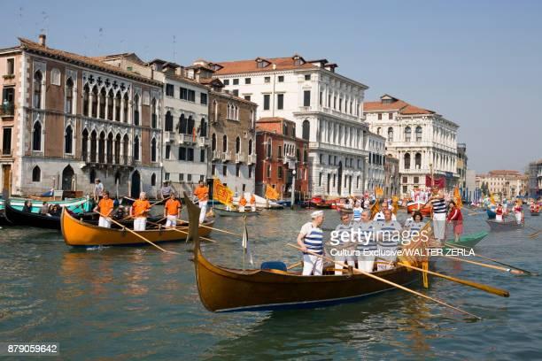 Historical regatta at carnival, Venice, Italy