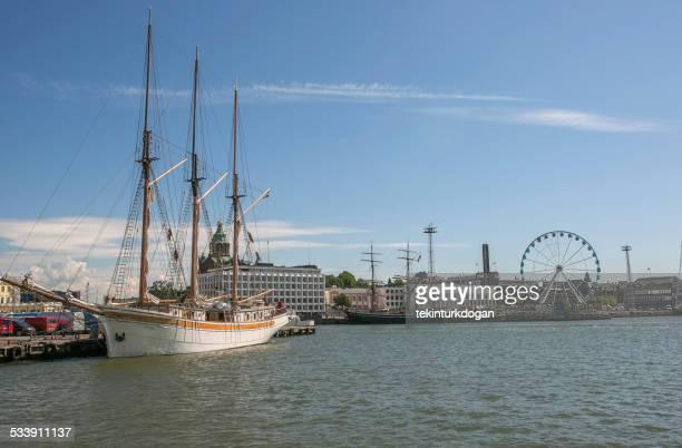 historical sailing ship at port of helsinki finland